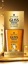 Schwarzkopf Gliss Reparación de Cabello 6 en 1 aceite esencia para el cabello beautuful Milagros 75ml