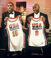"1992 MICHAEL JORDAN & MAGIC JOHNSON ""USA DREAM TEAM"" PICTURE Glossy Photo 8x10"