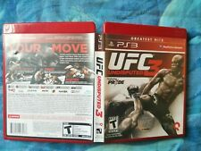 PS3 GAME UFC Undisputed 3 - Sony PlayStation 3 VERY GOOD CONDITION WITH MANUAL