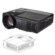 LED Beamer Projektor 800*480 Auflösung 1000 Lumens Augenschutz Schwarz Heimkino