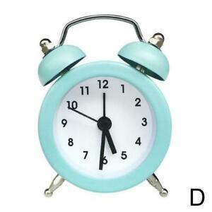 Alarm Clock Lilone Twin Bell Loud For Heavy Sleepers ellow Light Bedroom P9W1