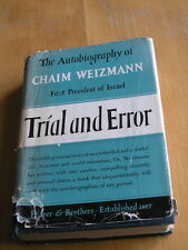 Autobiography Chaim Weizmann First President of Israel Trial and Error 1st Ed 49