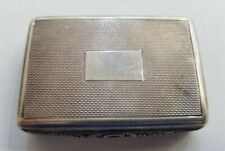 MAPPIN & WEBB ANTIQUE STERLING SILVER TOOTHPICK BOX