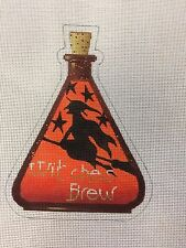 NEEDLEPOINT HAND PAINTED KIRK BRADLEY        THE WITCHES BREW   PRICE IS EACH