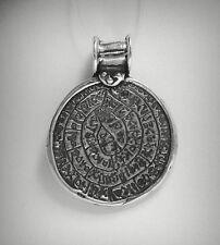 Sterling Silver Pendant Solid 925 Circle Indian Symbols PE000847 EMPRESS