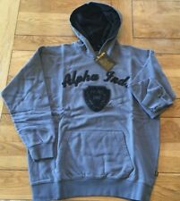 Boy's dark grey ALPHA INDUSTRIES embroidered long sleeve hoody, size 12 years