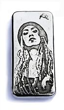 10 oz Silver Bullion Art Bar. Singer Nattalie Rize