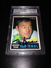 Frank Mahovlich Signed 1970-71 O-Pee-Chee OPC Card PSA Slabbed #65071939