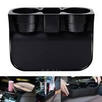 2 Cup Holder Drink Beverage Seat Seam Wedge Car Auto Truck Mount Universal Black
