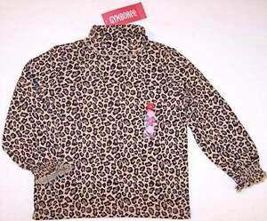 NWT Gymboree Leopard Turtleneck Top, Glamour Kitty, 4