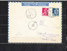 Ama/  Algérie  enveloppe Alger  pour Damas cachet  C  P    croix   de  1943
