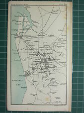 1904 SMALL MAP ~ AUSTRALIA ~ ADELAIDE ENVIRONS CITY PLAN