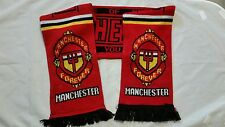 Manchester United Red Pride Of Europe Forever England Soccer Football Scarf