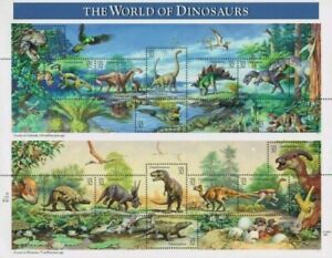 The World of Dinosaurs Sheet of Fifteen 32 Cent Postage Stamps Scott 3136