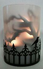 Yankee Candle FOGGY NIGHTS Bat Silhouettes Multi Tea Light Holder Halloween RARE
