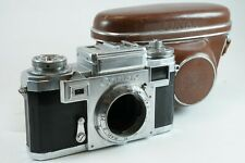 **AS IS** Contax IIIa Black Dial 35mm Rangefinder Camera w/ Case