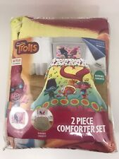 TROLLS Reversible Twin/Full Comforter 2 Piece Set Comforter and Pillow Sham