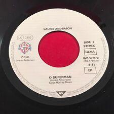 "LAURIE ANDERSON O Superman  1981 7"" vinyl Single EXCELLENT CONDITION"