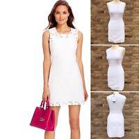 DVF Caralyn Sheath Dress Sz 0 White Wedding Summer UK 6 8 Diane von Furstenberg