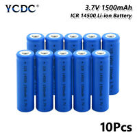 MOBILE POWER SOURCE ICR 14500 BATTERY 3.7V 1500MAH FOR HEADLAMP TORCH 10PCS CCB