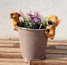 Runde Markenlose moderne Deko-Blumentöpfe & -Vasen aus Metall