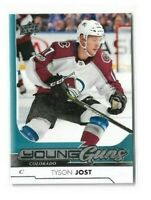2017-18 UPPER DECK #246 TYSON JOST YG RC UD YOUNG GUNS ROOKIE AVALANCHE