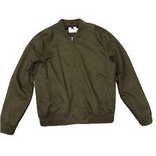 Topman Khaki Green Lightweight Bomber Jacket. Mens Size XL
