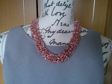 "NEW 662 CARATS PINK RED RHODOCHROSITE & SOLID 925 STERLING SILVER 19"" NECKLACE"