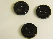 50//100 un Aluminio Plástico de botones piezas Negro Blanco Costura hágalo usted mismo Craft ropa