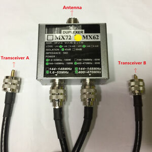 MX62 HAM Antenna Combiner Different Frequency (HF / VHF / UHF) Linear Duplexer