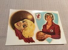 CARTOLINA DECALCOMANIA CALCIO  GRANDE TORINO ANNI '50 PIN UP MASCOTTE PALLONE