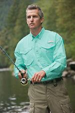 Columbia Bonehead Vented LS Shirt  FM7120 499 Gulf Stream XL, Extra Large NWT