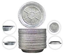"9"" Aluminum Foil Pie/Tart Pans Disposable Freezer & Oven Safe Pack of 50"