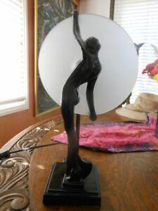 Art Deco Nude Disc Light table lamp 1970s