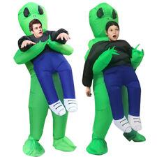 Halloween Costume Inflatable Green Alien Costume Pick Me Up Monster Blow Up Suit
