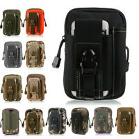Outdoor Waist Belt Bag Military Tactical Holster Molle Zip Hip Phone Wallet Case