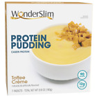 WonderSlim High Protein Pudding, Toffee Cream - Low Carb, Low Calorie, Low Fat,