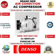 DENSO NEW AIR CONDITION AC COMPRESSOR OEM: 95512601100 for BENTLEY PORSCHE VW