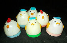 6~Vintage Plastic Easter Egg Chick Charaters~Lot #8