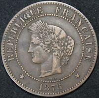 1876 A | France 5 Centimes | Coins | KM Coins