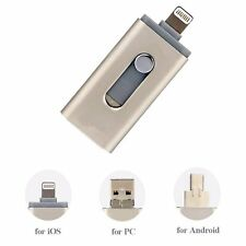 3in1 Flash Drive 128GB USB External Storage Memory Expansion U Disk For iPhone