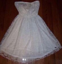 White HOLLISTER Summer Sun Beach Dress Women Size XS NEW