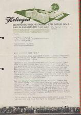 """BAD BLANKENBURG, Brief 1936, """"Heliogen""""-Elektrotechnische Fabrik H. Pawlik GmbH"""