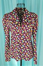 New listing Vintage 1970's Bobbie Brooks Purple Tulip Print Empire Waist Top Sz Xs Pre-Owned