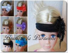 Charleston fascia per capelli Charleston nastro nastro frontale Testa Banda Piume Fascinator Parigi