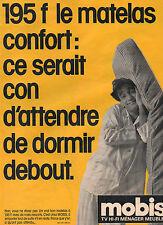 Publicité 1985  MOBIS tv hifi ménager meubles matelas