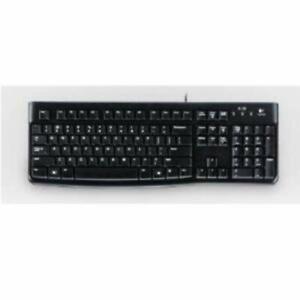 Logitech K120 Slim Wired USB Standard Keyboard Black