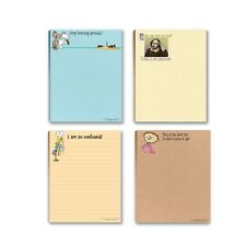 Funny To-Do-List Writing Pads – 4 Assorted Pads – 4.25