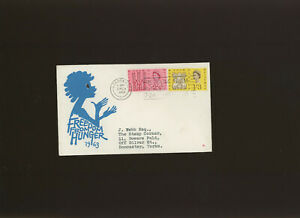 1963 FFH Phosphor illustrated FDC London WC Freedom from Hunger Week slogan