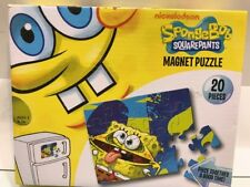 Spongebob Squarepants Nickelodeon 20 Pieces Puzzle Magnet Easy To Store On Metal